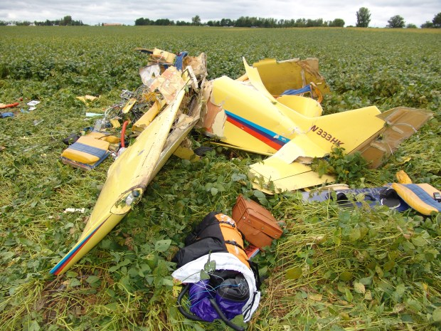 Mark Kedrowskis plane crashed just a few minutes after he took off from Lake Elmo Airport on Sept. 3, 2010. (Courtesy of the Washington County Sheriff's Office)