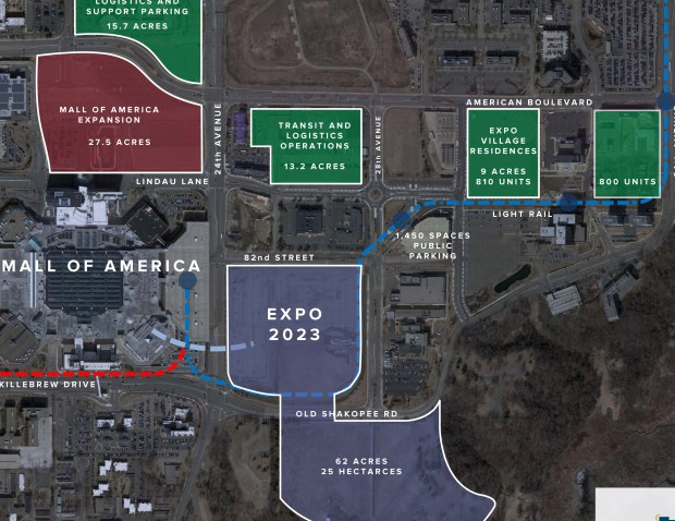 Farm site near Mall of America chosen for Minnesota's World ... Mall Of America Parking Map on mall of america expansion map, seaworld orlando parking map, santa anita race track parking map, san antonio parking map, minnesota vikings parking map, crabtree valley mall parking map, university of st. thomas parking map, mn state fairgrounds parking map, mall of america area map, camp snoopy mall of america map, nickelodeon universe mall of america map, mall of america map printable, mariucci arena parking map, des moines parking map, outside mall of america map, new orleans french quarter parking map, patriot place parking map, downtown minneapolis parking map, towson town center parking map, lehigh valley mall parking map,