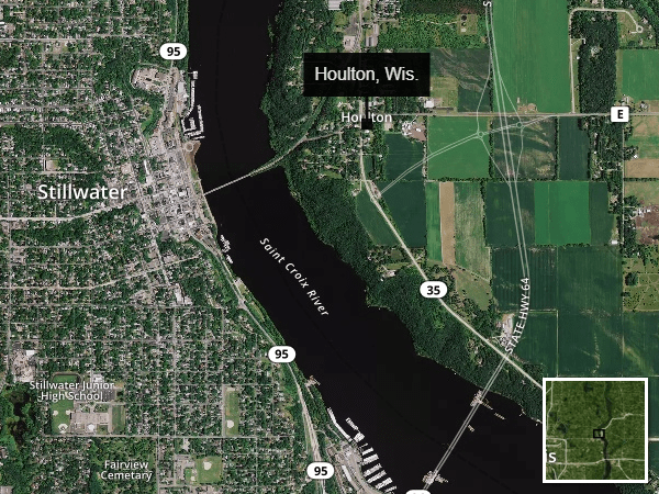 Houlton, Wis. locator map