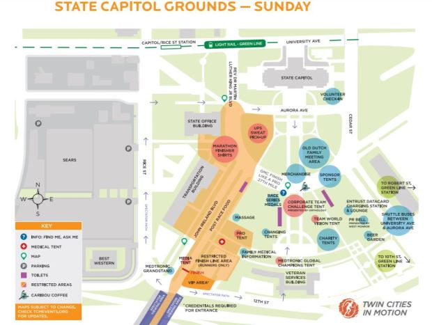 Twin Cities Marathon Time Maps Detours Finish Line Results - Map of us capitol grounds