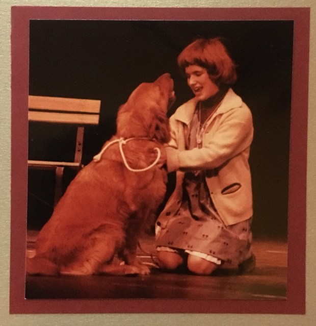 "Dusty and Julie Conzemius performing ""Annie"" at Hill-Murray School. (Courtesy of David Mann)"
