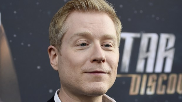 """In this Sept. 19, 2017, photo, Anthony Rapp, cast member in """"Star Trek: Discovery,"""" poses at the premiere of the new television series in Los Angeles. Spacey says he is """"beyond horrified"""" by allegations that he made sexual advances on Rapp when he was a teen boy in 1986. Spacey posted on Twitter that he does not remember the encounter but apologizes for the behavior. Rapp tells BuzzFeed that he was 14 when he attended a party at Spacey's apartment. (Photo by Chris Pizzello/Invision/AP, File)"""