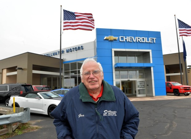 Gus MacDonald has worked in the service department of Stillwater Motors for 68 years and his long tenure will be celebrated by his employer tomorrow, photographed in Stillwater Oct. 31, 2017. (Scott Takushi / Pioneer Press)