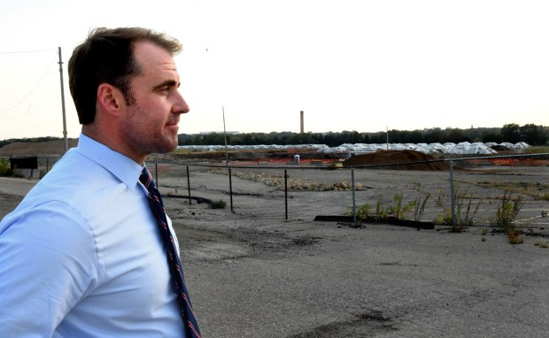 """I'm always just amazed at what a big site it is,"" said St. Paul City Council member Chris Tolbert when standing at the old Ford assembly plant site on Ford Parkway and Cretin in St. Paul Wednesday, Sept. 13, 2017. (Jean Pieri / Pioneer Press)"