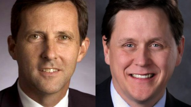 Former Minnesota Rep. Keith Downey, left, and Rep. Matt Dean, R-Dellwood (Submitted photos)