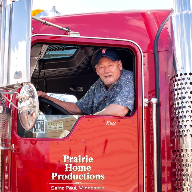 """Russ Ringsak, truck driver and blues guitarist with """"A Prairie Home Companion,"""" died Tuesday in Stillwater. (Photo courtesy Prairie Home Productions)"""