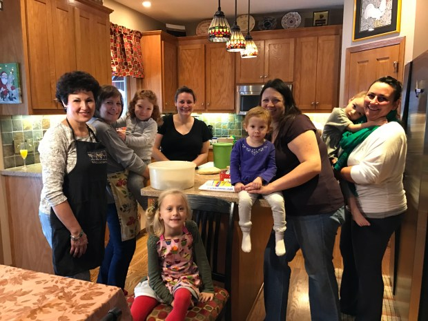 From left: Annette Martinson, Mary Jo DiIoia holding Lilly Reeves, Stephanie Bernhjelm. In the front is Kali Martinson, Lucy Reeves, Nicole Reeves, Serena Bernhjelm and Jackie Bryski. (Courtesy of Annette Martinson)