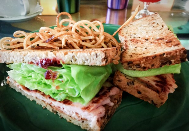 Turkey Lingonberry Sandwich at Hygga Lowertown in St. Paul. (Nancy Ngo / Pioneer Press)