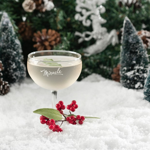 A gimlet at the Miracle at Lawless holiday pop-up cocktail bar. (Courtesy Lawless Distilling Company).