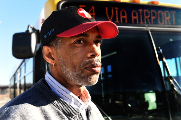 Metro Transit bus operator David Stiggers at Union Depot Station in St. Paul Thursday, Nov. 30, 2017. Stiggers has driven Metro Transit buses for 11 years. In that time he has been frequently verbally harassed, pelted with objects and received death threats. (Jean Pieri / Pioneer Press)