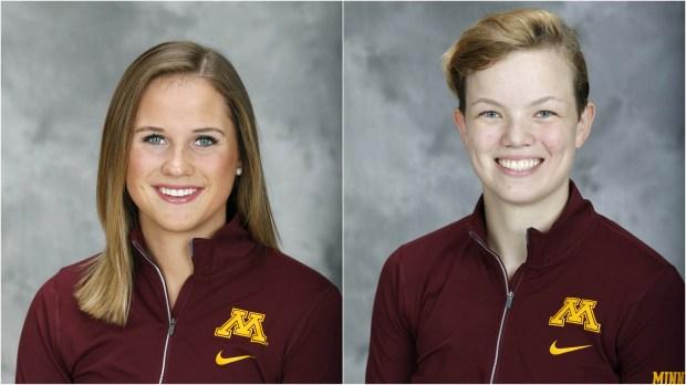 Nicole Schammel and Alex Gulstene (Courtesy of University of Minnesota Athletics)