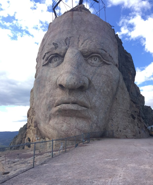 Work continues on Crazy Horse Memorial in South Dakota. (Courtesy of Amy Nelson)