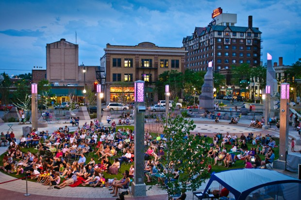 Rapid City's Main Square (Courtesy of South Dakota Department of Tourism)