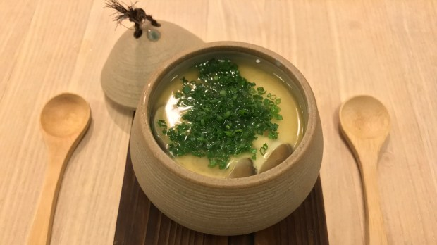 Chawanmushi steamed egg custard at Kado no Mise. Photographed Nov. 17, 2017. (Nancy Ngo / Pioneer Press)