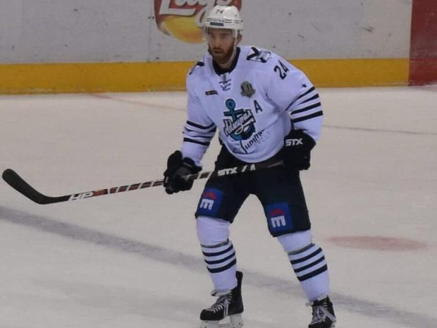 Former Minnesota Wild defenseman Jon Blum now plays for Vladivostok Admiral of Russia's Kontinental Hockey League. Because he's not on an NHL contract, Blum is a candidate to make the U.S. men's Olympic hockey team, which will be announced Jan. 1. (Courtesy of Jon Blum)