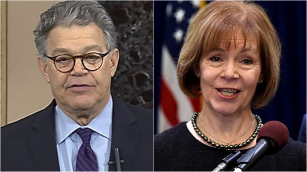 Sen. Al Franken and Minnesota Lt. Gov. Tina Smith (Pioneer Press file photos)