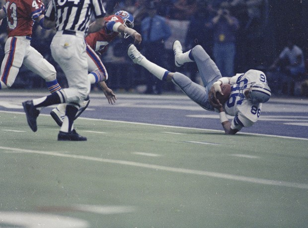 7691e852b Dallas Cowboys  Butch Johnson catches the game-winning pass in the end zone  that