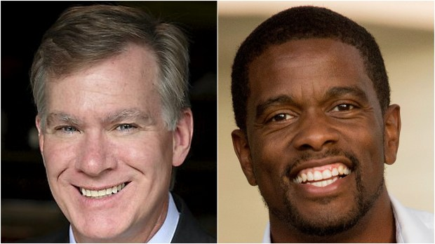 Outgoing St. Paul mayor Chris Coleman and incoming mayor Melvin Carter
