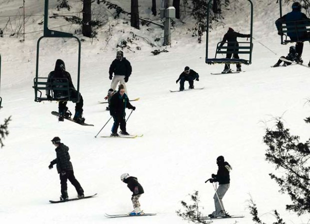 Business is up at Afton Alps Ski Area in Hastings, December 31, 2009. Fleming story for Sat. (?) (Pioneer Press: Jean Pieri)
