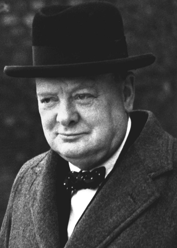 ADVANCE FOR SUNDAY, SEPT. 26--FILE--Winston Churchill is pictured in London in this March 28, 1940 file photo. On June 17, 1940, as German forces marched acoross continental Europe and the United States was still holding back from the growing conflict, the new British prime minister, summoned his nation to battle Adolf Hitler. (AP Photo/FILE)