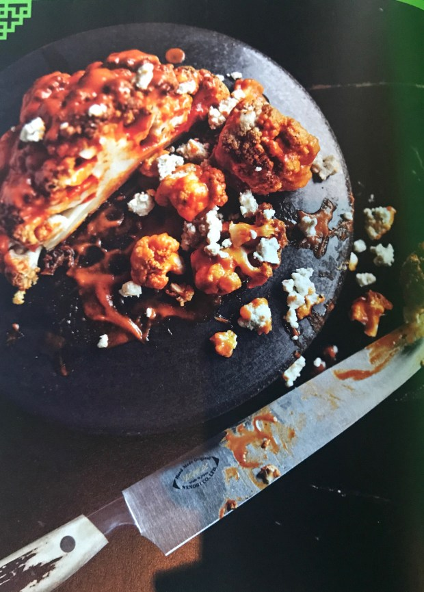 Dale Talde's Buffalo'ed Cauliflower with Blue Cheese. (Courtesy Taste of the NFL)