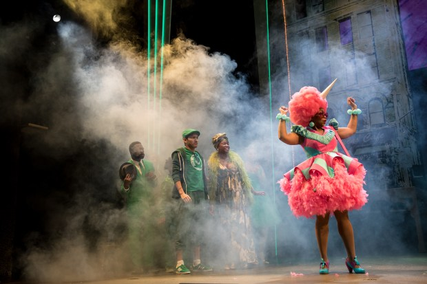 """Aimee Bryant is Addaperle in """"The Wiz."""" (Photo by Dan Norman)"""