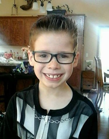Alan Geisenkoetter Jr., 8, is in critical condition after a man on a snowmobile crashed into him on Chisago Lake Friday, Jan. 26, 2018. (Courtesy of the Geisenkoetter family)
