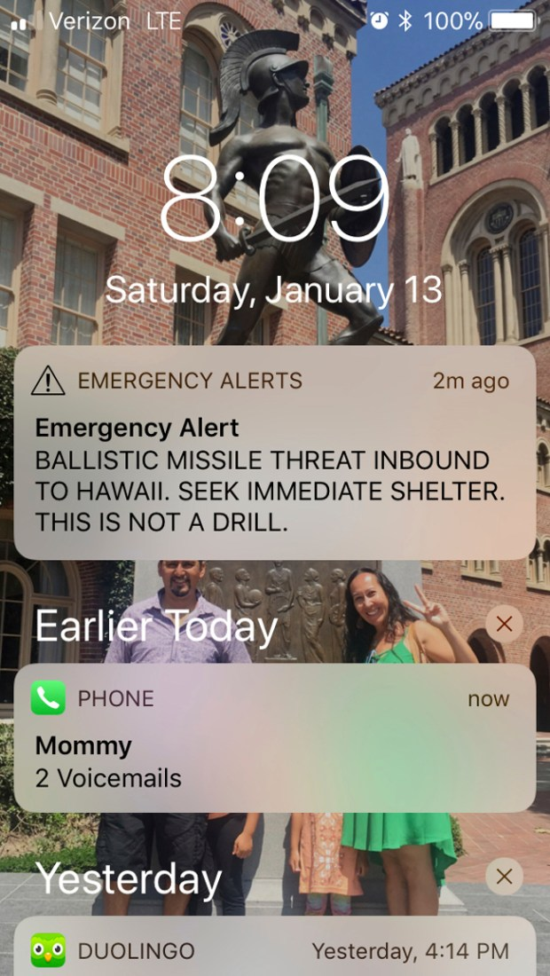 Hawaii Officials Apologize For Mistaken Missile Alert