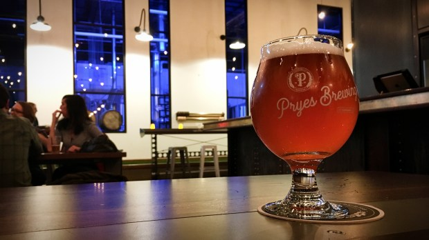 Raspberry sour at Pryes Brewing Company. (Jess Fleming / Pioneer Press)