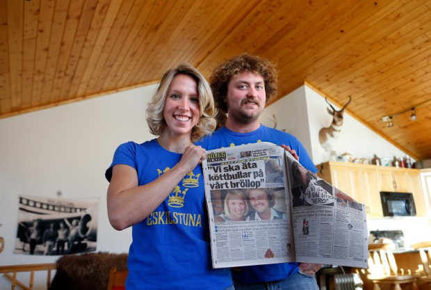 Tori and Nathan Younggren were featured in a tabloid magazine for the popular Swedish reality TV series that they competed in.photo by Eric Hylden/Grand Forks Herald