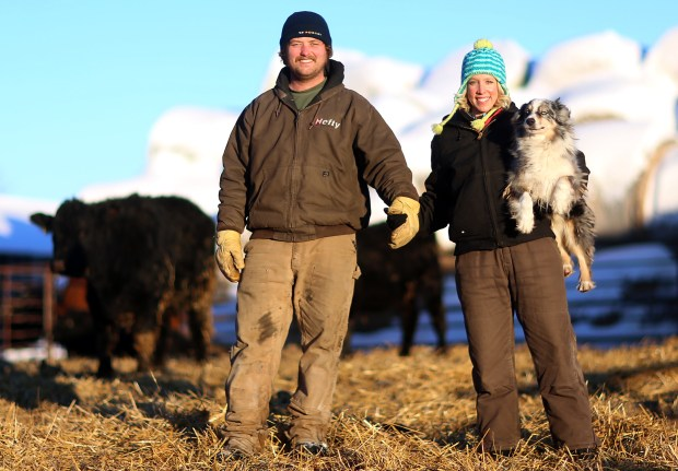 Nathan and Tori Younggren of Hallock, Minn., competed this past year on a Swedish reality TV show and ended up marrying and are farming near Hallock. (Eric Hylden / Forum News Service)