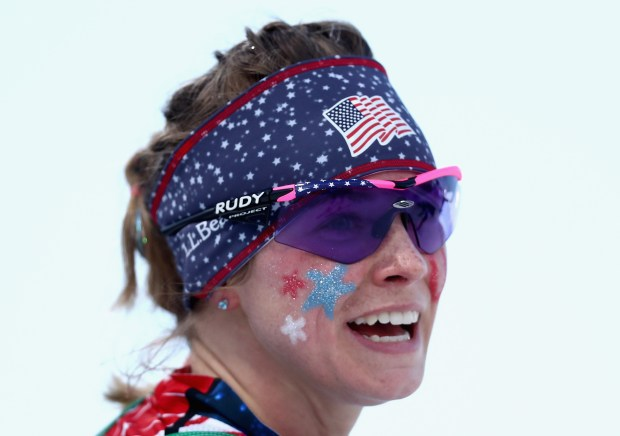 Jessica Diggins of the United States looks on during the Cross Country Ladies' Team Sprint Free semi final on day 12 of the PyeongChang 2018 Winter Olympic Games at Alpensia Cross-Country Centre on February 21, 2018 in Pyeongchang-gun, South Korea. (Photo by Lars Baron/Getty Images)