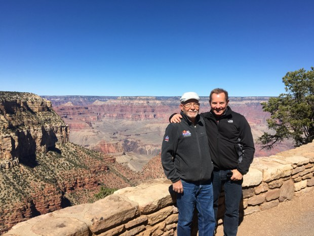 Todd P. Walker and his father at the Grand Canyon. (Courtesy of Todd P. Walker)