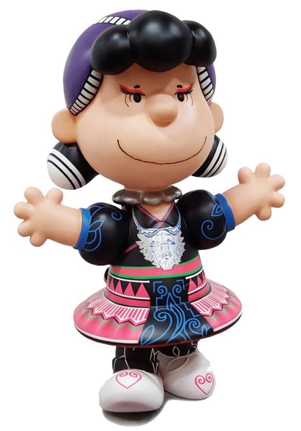 As part of a sister city exchange with Changsha, China -- an ancestral home to the Hmong community -- the city of St. Paul is sending five Peanuts statues to the south central city of 7 million residents: Snoopy as Joe Cool, Charlie Brown, Linus, Snoopy on a doghouse decorated with Chinese brush-style painting, and Lucy in a Hmong dress. Lucy will be on display Saturday, Feb. 10, 2018 from 1 to 4 p.m. at the Community School of Excellence, 270 Larpenteur Ave. West in St. Paul. (Courtesy of The Minnesota China Friendship Garden Society)