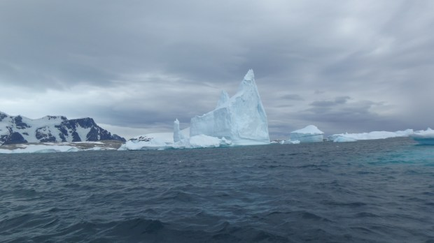 Icebergs at the entrance to the Weddell Sea. (Courtesy of Richard Weil)
