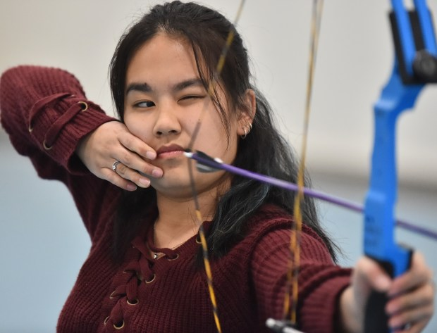 Emily Yang, a junior at Open World Learning Community in St. Paul, was photographed in her school's gymnasium on March 27, 2018. (John Autey / Pioneer Press)