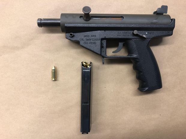 St. Paul police officers recovered this Luger Luger AR9 after a foot chase in the city's Midway neighborhood, according to a post on the department's Facebook page. (Courtesy of the St. Paul Police Department)