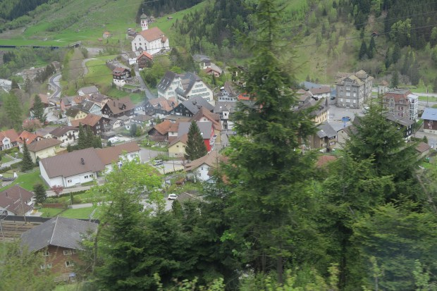 The Gotthard Panoramic Express passes through many small Swiss villages. (Liza Weisstuch/TNS)