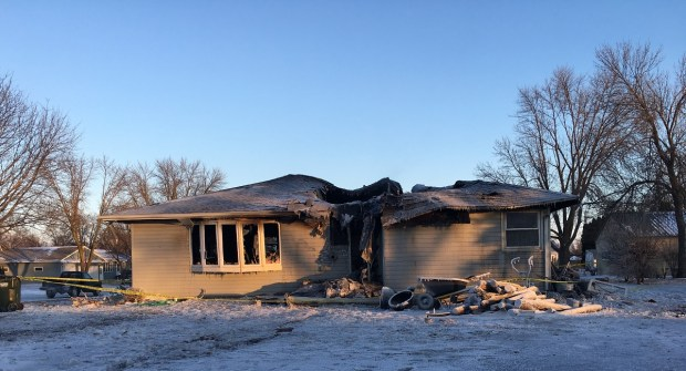 The fire-gutted house owned by (Renville County Sheriff's Department)