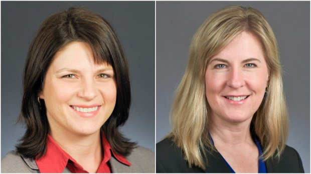 Joyce Peppin, left, and Melissa Hortman
