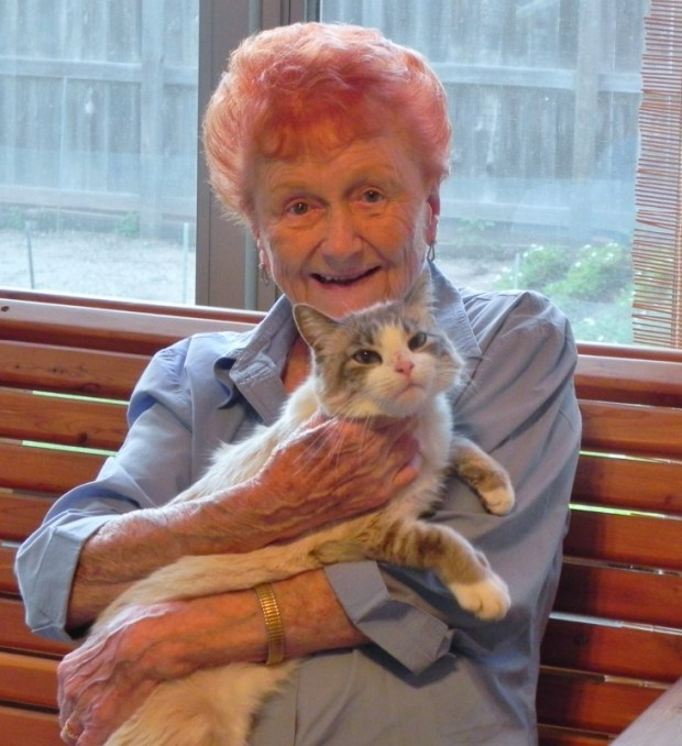 """June Alice Thompson was 92 years old when she died in October 2017 at The Commons on Marice in Eagan. Her daughter described her as a """"fiery redhead"""" who loved animals, dancing, golfing, singing, and fishing. (Courtesy of Debbie Singer)."""