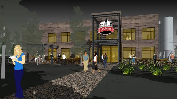 Lift Bridge Brewery announced plans April 24, 2018, to build a new $10 million brewery, warehouse and taproom a block north of its current Stillwater location. (Courtesy of Hammel, Green and Abrahamson)
