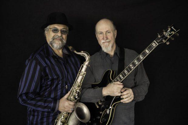 Saxophonist Joe Lovano and guitarist John Scofield (Photo courtesy Hopkins Center for the Arts)
