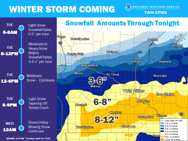 Image result for Will winter never end? About 8 inches of snow expected, plus cold weather on the way