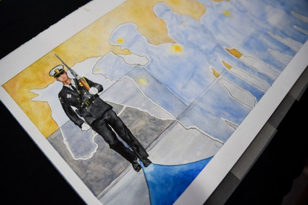The original watercolor design painted by artist Michele Steffens of Spicer, Minn. (Erica Dischino / Forum News Service)