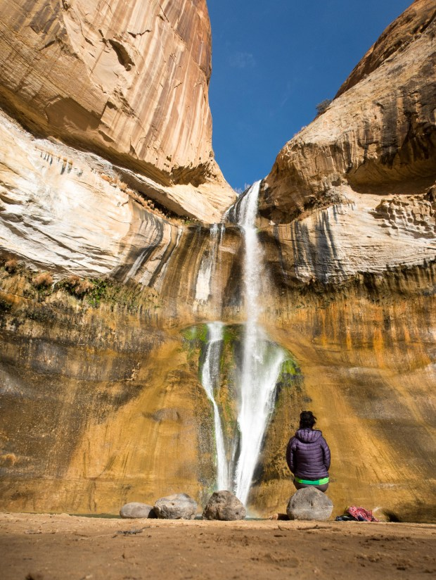 Lower Calf Creek Falls at Grand Staircase-Escalante National Monument. (Photo for the Washington Post by Dina Mishev)