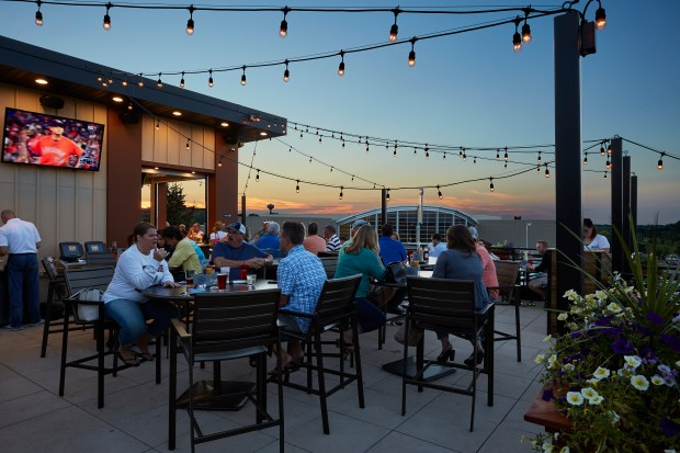 Rooftop patio at B-52 Burgers and Brew in Inver Grove Heights. (Courtesy Progressive Architecture)