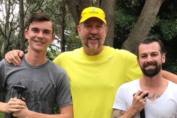 KJ Millhone (center) and his teammates Kevin Eckelkamp (left) and Nate Lastinger are attempting to break the world record by canoeing the Mississippi River in less than 18 days. (Courtesy KJ Millhone)