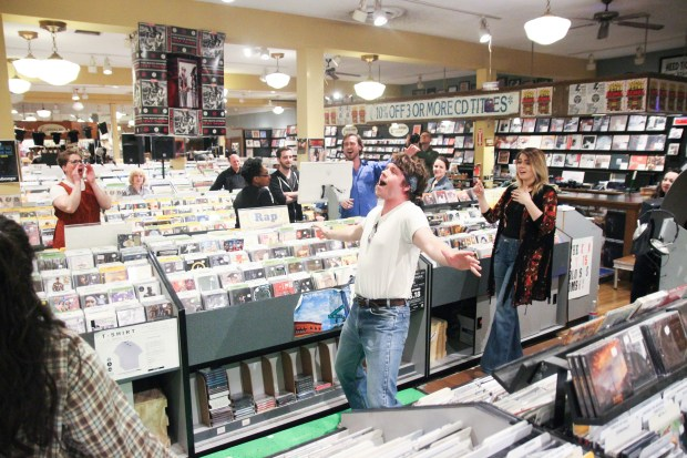 "Minneapolis Musical Theatre is staging ""High Fidelity"" at the Electric Fetus record store in Minneapolis. (Unser Imagery)"