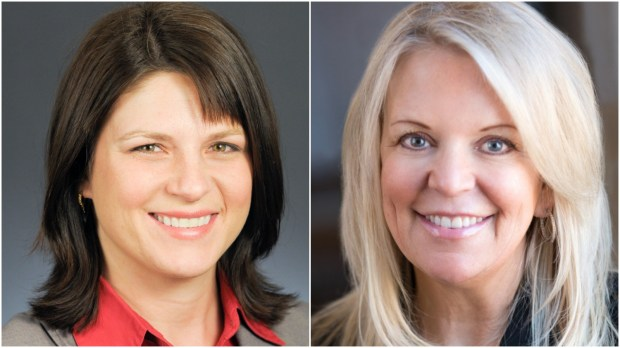 Minnesota House Majority Leader Joyce Peppin, R-Rogers, left, and state Sen. Karin Housley, R-St. Mary's Point. (Courtesy photos)